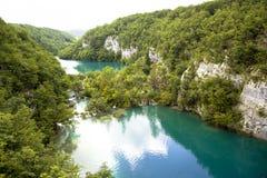 Λίμνες Plitvice - εθνικό πάρκο στην Κροατία Στοκ Φωτογραφία