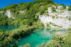 Λίμνες Plitvice της Κροατίας - εθνικό πάρκο το καλοκαίρι Στοκ Φωτογραφία