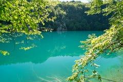 Λίμνες Plitvice της Κροατίας - εθνικό πάρκο το καλοκαίρι Στοκ Εικόνα