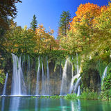 Λίμνες Plitvice της Κροατίας - εθνικό πάρκο το φθινόπωρο Στοκ φωτογραφία με δικαίωμα ελεύθερης χρήσης