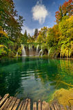 Λίμνες Plitvice της Κροατίας - εθνικό πάρκο το φθινόπωρο Στοκ εικόνα με δικαίωμα ελεύθερης χρήσης