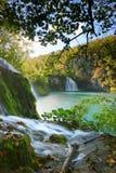 Λίμνες Plitvice της Κροατίας - εθνικό πάρκο το φθινόπωρο Στοκ Φωτογραφία