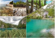 Λίμνες Plitvice της Κροατίας - εθνικό πάρκο το φθινόπωρο Στοκ Εικόνα