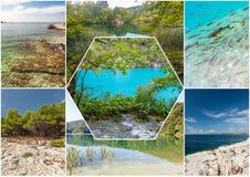 Λίμνες Plitvice της Κροατίας - εθνικό πάρκο το φθινόπωρο Στοκ Φωτογραφίες