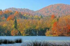 Λίμνες Plitvice της Κροατίας (Hrvatska) - εθνικό πάρκο το φθινόπωρο Στοκ Εικόνες