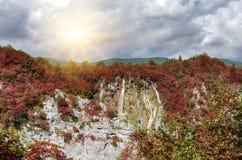 Λίμνες Plitvice το φθινόπωρο Στοκ εικόνες με δικαίωμα ελεύθερης χρήσης