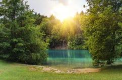 Λίμνες Plitvice το φθινόπωρο Στοκ φωτογραφία με δικαίωμα ελεύθερης χρήσης