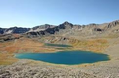 Λίμνες Saddlebag στην περιοχή κολπίσκου Downton Στοκ Εικόνα