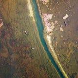 Λίμνη άποψης πουλιών το φθινόπωρο Στοκ φωτογραφίες με δικαίωμα ελεύθερης χρήσης