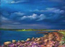 λίμνη ακτών ελεύθερη απεικόνιση δικαιώματος
