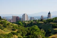 λίμνη αλατισμένο Utah πόλεων Στοκ Εικόνες