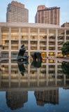 Λίμνη αντανάκλασης Lincoln Center NYC Στοκ Εικόνες
