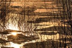 Λίμνη αντανακλάσεων νερού κλίσης πάγου Στοκ εικόνες με δικαίωμα ελεύθερης χρήσης