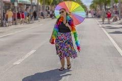 Λίμνη αξίας, Φλώριδα, ΗΠΑ στις 31 Μαρτίου 2019 πριν, παρέλαση υπερηφάνειας του Palm Beach στοκ εικόνες