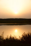 λίμνη αυγής Στοκ Εικόνα