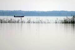 Λίμνη βαρκών ψαράδων Στοκ εικόνα με δικαίωμα ελεύθερης χρήσης