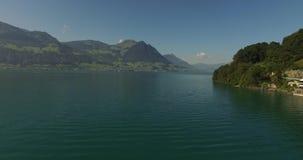 Λίμνη βουνών - Ελβετία απόθεμα βίντεο