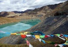 Λίμνη βουνών. Θιβέτ Στοκ Εικόνες