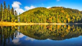 Λίμνη βουνών πανοράματος Στοκ Εικόνα