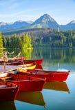 Λίμνη βουνών σε υψηλό Tatra Στοκ Εικόνες