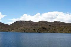 Λίμνη βουνών στην οικολογική επιφύλαξη Antisana, Ισημερινός Στοκ Εικόνες