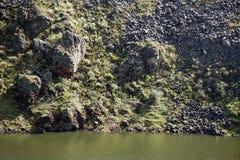 Λίμνη βουνών στην οικολογική επιφύλαξη Antisana Στοκ φωτογραφία με δικαίωμα ελεύθερης χρήσης