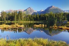 Λίμνη βουνών στη Σλοβακία Tatra - Strbske Pleso Στοκ φωτογραφίες με δικαίωμα ελεύθερης χρήσης