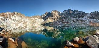 Λίμνη βουνών στη Σλοβακία Tatras - το pleso Hincovo Στοκ εικόνες με δικαίωμα ελεύθερης χρήσης