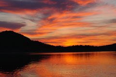 Λίμνη βραδιού Στοκ Φωτογραφία