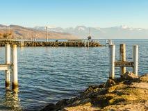 Λίμνη Γενεύη, λιμένας Ouchy, Λωζάνη, Ελβετία Στοκ φωτογραφία με δικαίωμα ελεύθερης χρήσης