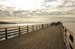 λίμνη γεφυρών για πεζούς Στοκ εικόνες με δικαίωμα ελεύθερης χρήσης