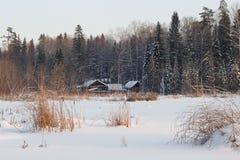 λίμνη εξοχικών σπιτιών τραπ&epsil Στοκ Φωτογραφία