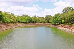 Λίμνη ελεφάντων Anuradhapura, παγκόσμια κληρονομιά της ΟΥΝΕΣΚΟ της Σρι Λάνκα Στοκ φωτογραφία με δικαίωμα ελεύθερης χρήσης