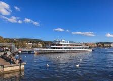 Λίμνη Ζυρίχη στην Ελβετία Στοκ εικόνες με δικαίωμα ελεύθερης χρήσης