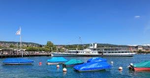 Λίμνη Ζυρίχη το καλοκαίρι Στοκ φωτογραφίες με δικαίωμα ελεύθερης χρήσης