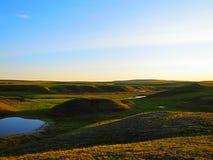 Λίμνη θερινό tundra στοκ εικόνες