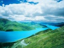 λίμνη Θιβέτ yamdrok Στοκ Εικόνες