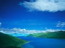 λίμνη Θιβέτ yamdrok Στοκ Εικόνα