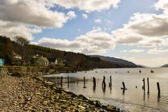 Λίμνη λιμνών ness στη Σκωτία Στοκ φωτογραφία με δικαίωμα ελεύθερης χρήσης