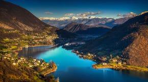 Λίμνη Ιταλία Endine Στοκ Εικόνες
