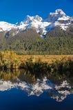 Λίμνη καθρεφτών - ήχος Milford Στοκ φωτογραφία με δικαίωμα ελεύθερης χρήσης