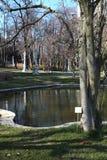 Λίμνη και δέντρα στο θερινό παλάτι Ihlamur Στοκ εικόνα με δικαίωμα ελεύθερης χρήσης