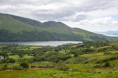 Λίμνη και βουνά στον τρόπο ιρλανδικών αγελάδων Στοκ φωτογραφίες με δικαίωμα ελεύθερης χρήσης