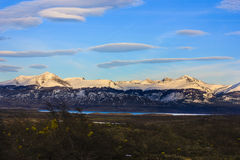 Λίμνη και βουνό στην Παταγωνία Στοκ Εικόνα