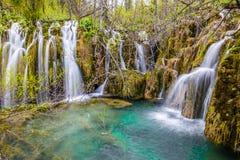 Λίμνη και καταρράκτης-Plitvice εθνικό πάρκο, Κροατία Στοκ φωτογραφίες με δικαίωμα ελεύθερης χρήσης