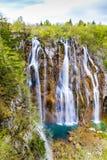 Λίμνη και καταρράκτης-Plitvice εθνικό πάρκο, Κροατία Στοκ φωτογραφία με δικαίωμα ελεύθερης χρήσης
