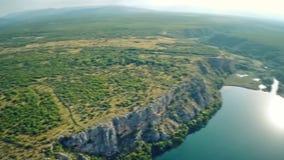 Λίμνη και οροπέδιο Brljan απόθεμα βίντεο