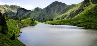 Λίμνη και πρασινάδα στο βουνό στοκ εικόνες
