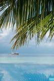 Λίμνη και seascape απείρου ως μουτζουρωμένο υπόβαθρο Στοκ φωτογραφία με δικαίωμα ελεύθερης χρήσης