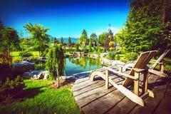 Λίμνη κατωφλιών κήπων Στοκ φωτογραφίες με δικαίωμα ελεύθερης χρήσης